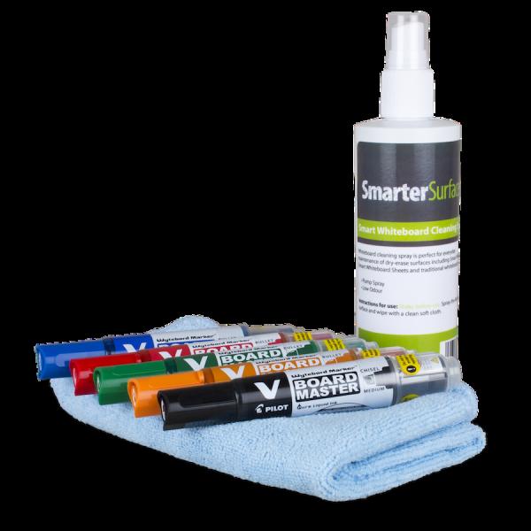 Valkotaulutarvikkeet Starter Kit