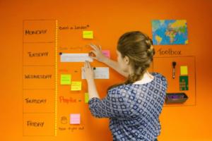 Orange whiteboardfärg
