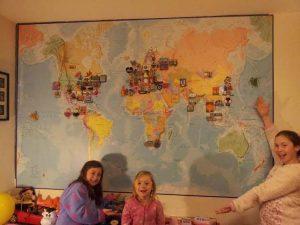 magneettinen ja läpinakyvä maailmankartta